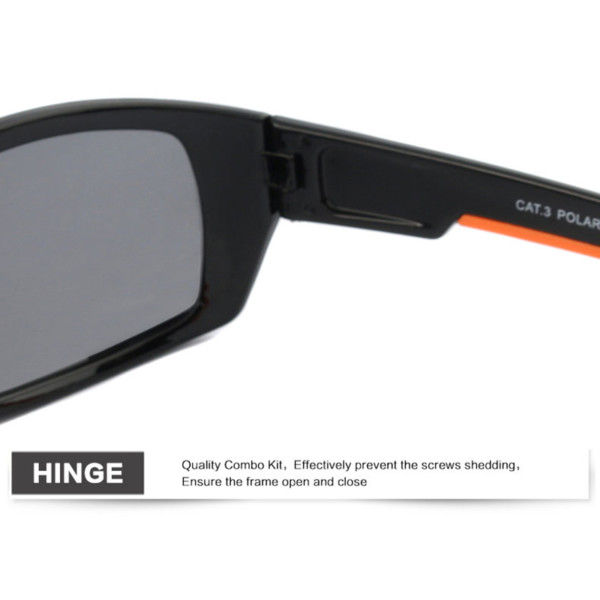 Black polarized sunglasses